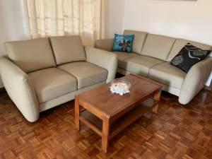 Living room sofa set in leather - Living room sets on Aster Vender