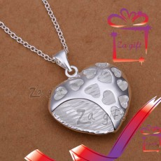 Female : 925 Sterling Silver Hearts Necklace - Necklaces on Aster Vender