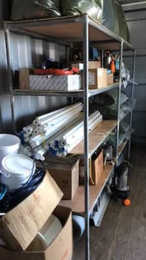 Two large metal and wooden shelves - Shelves on Aster Vender