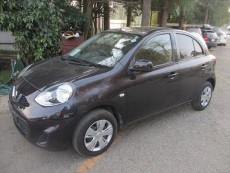 NISSAN MARCH 2014 1190CC 37,000KM DARK PURPLE - Compact cars on Aster Vender
