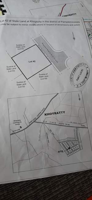Land for sale at Khoyratty - Land on Aster Vender