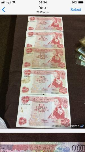 Mauritian old notes - Antiquities on Aster Vender