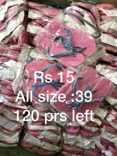 A vendre savatte en gros par boite - Rs 15 piece. Ideal pour Marchand ambulant et magazin  - Slippers on Aster Vender
