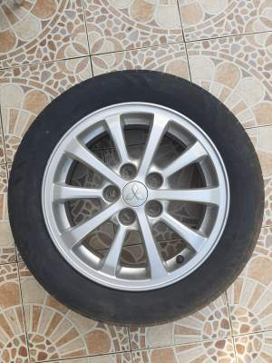 4 Alloy Rims 16# inch (5*114) with tyre - Compact cars on Aster Vender