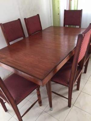 Teak Table and 6 chairs - Table & chair sets on Aster Vender