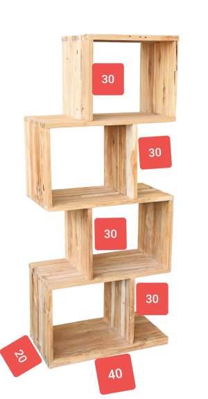 Simple wooden Rack - Interior Decor on Aster Vender