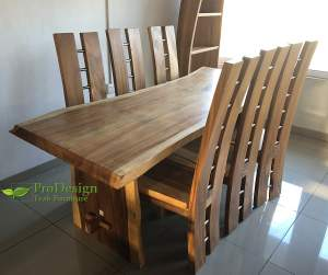 Live Edge Dining Set - Table & chair sets on Aster Vender