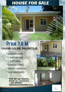 House for sale at Grand Gaube.  - House on Aster Vender