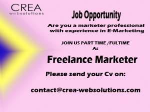 Job Opportunity part time/full-time  as Freelancer in Marketing  - Jobs on Aster Vender