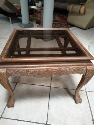Luxury Coffee Table with Bevelled Glass Top - Tables on Aster Vender