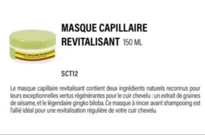 Masque Capillaire Revitalisant - Hair Masks on Aster Vender