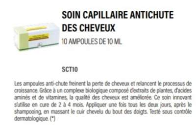 Soin capillaire antichute des cheveux - Hair treatment on Aster Vender