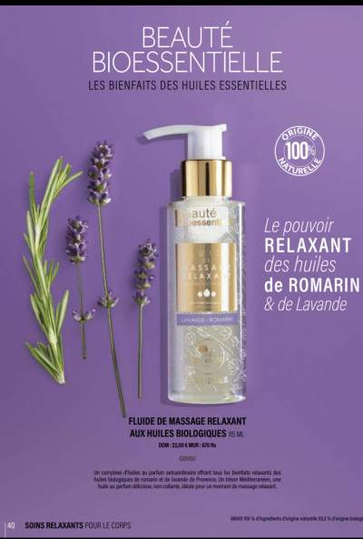 Fluide De Massage Relaxant Aux Huiles Biologiques - Massage products on Aster Vender
