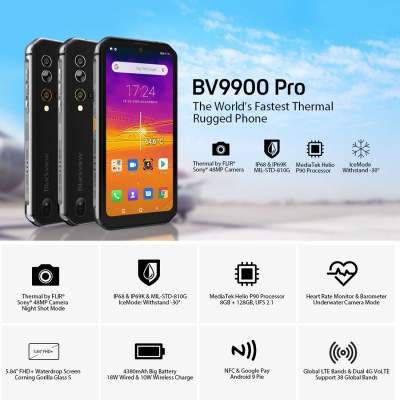 Blackview BV9900 Pro, 48MP Camera, 8GB+128GB  - Android Phones on Aster Vender