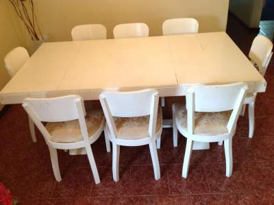 Teak table and chairs - Table & chair sets on Aster Vender