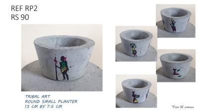 Concrete Small planters (Tribal) - Other Crafts on Aster Vender