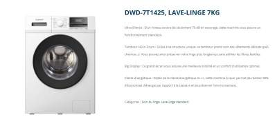 LAVE LINGE DAEWO 7KG - Sewing Machines on Aster Vender