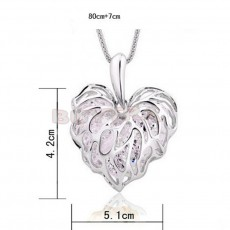 Golden/Silver Heart Necklace : - Necklaces on Aster Vender