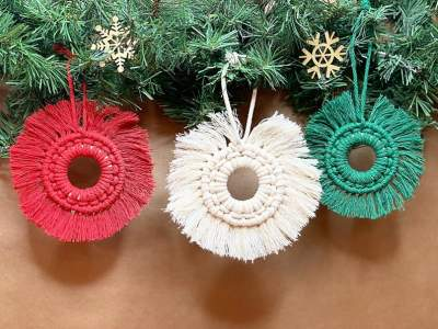 Macrame Christmas Ornaments  - Other Crafts on Aster Vender
