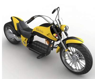Harley Style 2000 W Electric Motorbike - Electric Scooter on Aster Vender