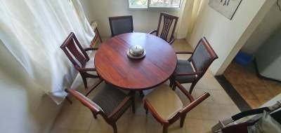 Dining Table + 7 chairs - Tables on Aster Vender