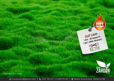 Promo 50% Off - Golf Lawn - Plants and Trees on Aster Vender