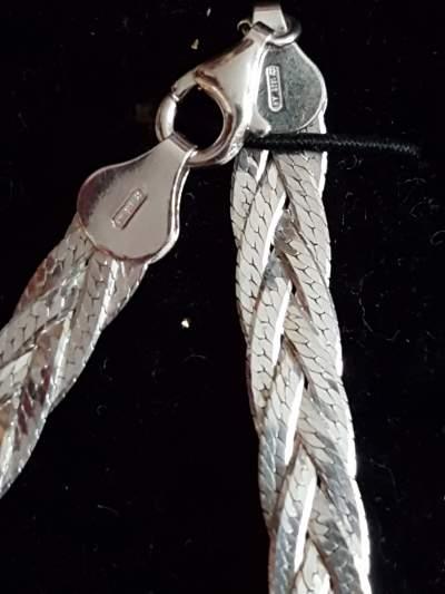 Braided Sterling Silver Bracelet For Her - Bracelet jewelry on Aster Vender