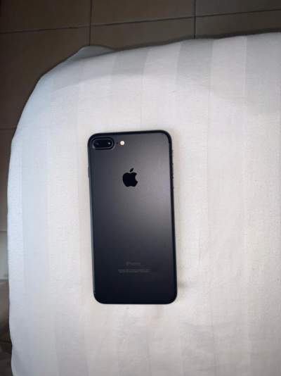 Iphone 7+ Black with two Silicon Apple Brand Pouch - iPhones on Aster Vender