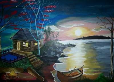 Pied dans l'eau - Paintings on Aster Vender
