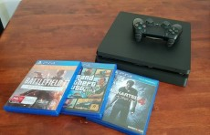 Ps4 slim 500 GB+ 3 games - PlayStation 4 (PS4) on Aster Vender
