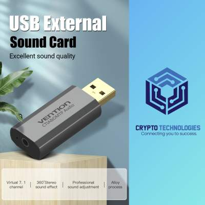 USB External Sound Card Gray Metal Type - All Informatics Products on Aster Vender