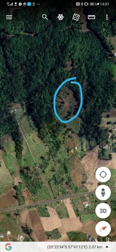 Land (1 Arpent) Rivieres des Créoles Mountain - Land on Aster Vender