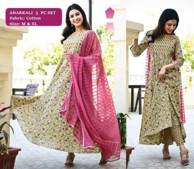 3 PC ANARKALI SET - Indian dresses on Aster Vender