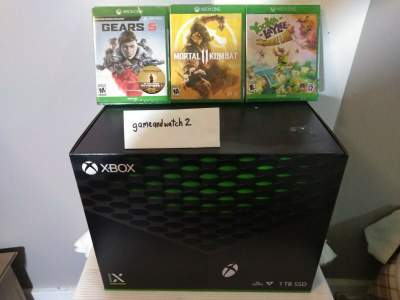 Microsoft Xbox Series X 1TB (Console + 3 Games + 2 controls) - Xbox One Games on Aster Vender