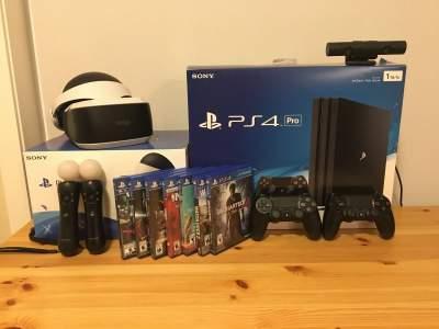 PlayStation 4 Pro + 1TB + 2 controls + 5 games + PS Camera - PlayStation 4 Games on Aster Vender