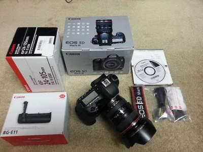 Canon EOS 5D Mark III Body /w KIT(24-105 IS) SLR Camera 23.4MP - Earphone on Aster Vender