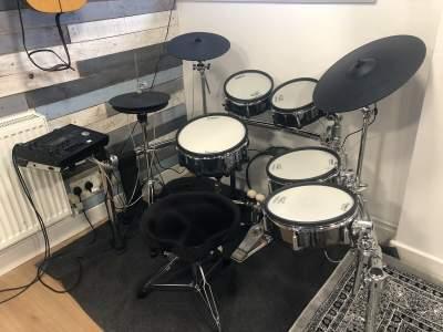 Roland TD50K V Drum Electronic Set with EXTRAS Speaker Thrown Stands C - Electric drums on Aster Vender