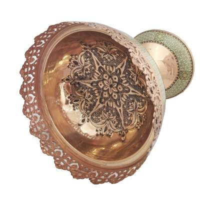 Copper nuts bowl - Handmade on Aster Vender