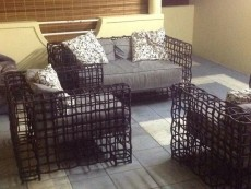 Sofa set discounted from Rs85,000 to Rs20,000.  Quality metal ones recovered with Rattan - not the cheap & plastic versions - Living room sets on Aster Vender