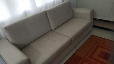 Double Sofa (Color: Cream) - Sofas couches on Aster Vender