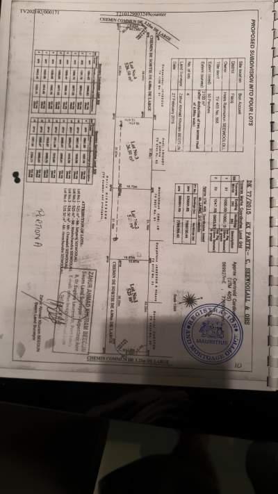 Terrain 12 perches a vendre a Bon Accueil tel 58285330 - Land on Aster Vender