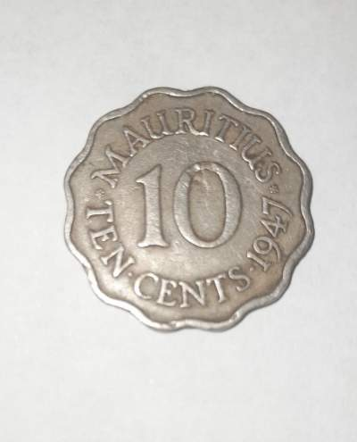 Coin, Mauritius, George VI, 10 Cents, 1947, , Copper-nickel, KM:24 - Coins on Aster Vender