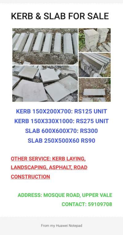 Kerb for sales - Architecture on Aster Vender
