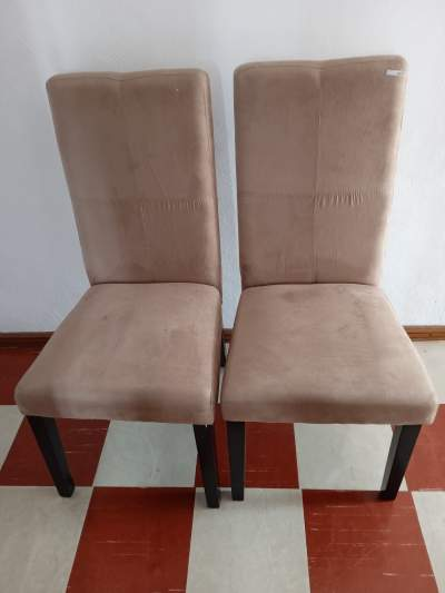 SOLID WOOD CHAIRS COVERED WITH FAUX LEATHER FABRIC - 2 - Desk chairs on Aster Vender