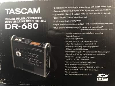 Tascam DR-680 - Other Studio Equipment on Aster Vender