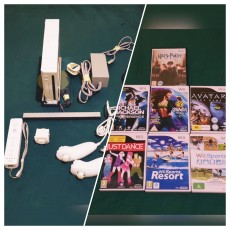 WII console+1 controller+1 motion plus+3 protective case+7 wii games  - PS4, PC, Xbox, PSP Games on Aster Vender