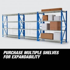 2Mx2M-900KG-Metal-Warehouse-Racking-Storage-Garage-Shelving-Steel-She - Others on Aster Vender