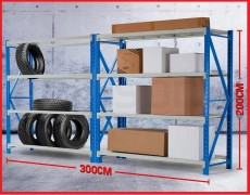 3x2M 2000KG Metal Warehouse Racking Storage Garage Shelving 8 TIER - Others on Aster Vender