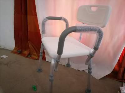 Bath bench with back and arm rest aluminium - Crutch (Béquilles) on Aster Vender