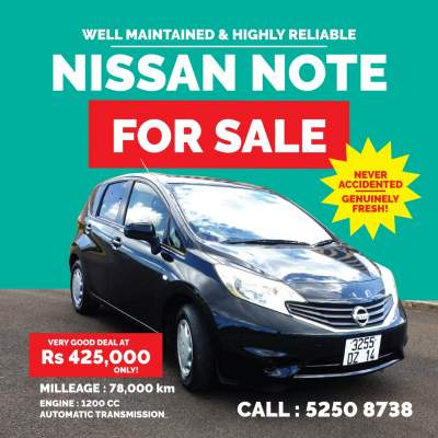 Nissan Note 2014 - Compact cars on Aster Vender